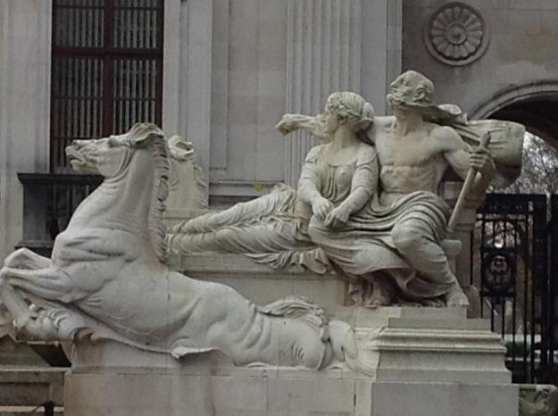 Cardiff University statue