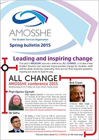 AMOSSHE bulletin spring 2015