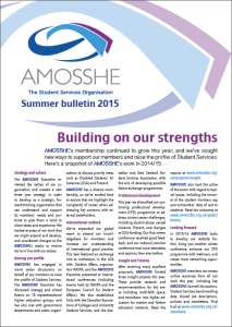 AMOSSHE bulletin summer 2015